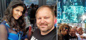 Güggi TV trifft Mousse T. und Micaela Schäfer bei BigCityBeats in Frankfurt