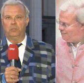 ORF-Korrespondent mit speziellem Kleidungsstil