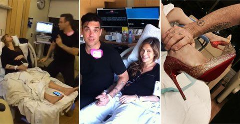 "Live aus dem Kreißsaal: Robbie Williams ""entertaint"" seine Frau"