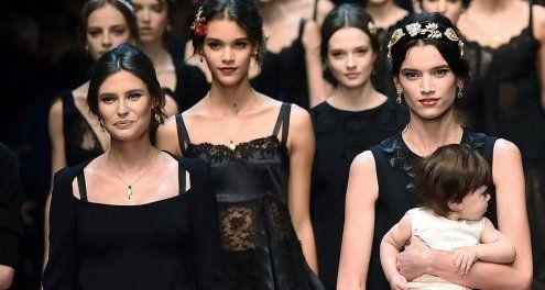 """""""Fruchtbare Mode"""" von Dolce & Gabbana: Top-Fashion für Mamas"""
