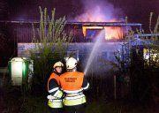 Koblach: Schuppen in Brand geraten