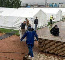 Noch mehr Zelte für Flüchtlinge