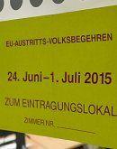 EU-Austritts-Volksbegehren: Wenig Interesse in Vorarlberg