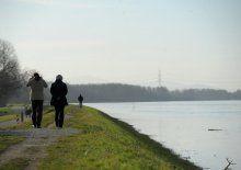 Deutsches Polizeiauto im Rhein gefunden