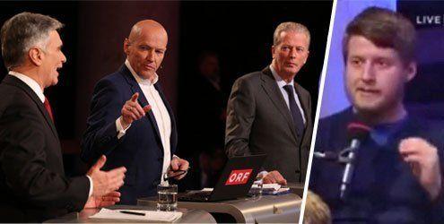 """Kritik am ORF und Aufregung um Auftritt von """"Identitären""""-Chef"""
