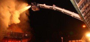 Großbrand in Diepoldsau: Schreinerei in Flammen