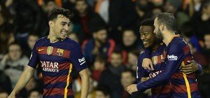 Barcelona verbesserte mit 1:1 in Valencia Club-Rekord