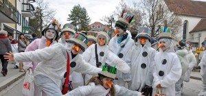 Schneemänner & Co beim Dornbirner Kinderumzug