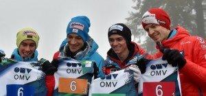ÖSV-Skispringer im Team nur auf Rang 5