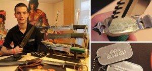 Rambo in Vorarlberg: Marcel Egger sammelt die Messer aus den Filmen