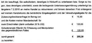 EDRO-Falschparker: Volksbank übernimmt Prozesskosten für Betroffene