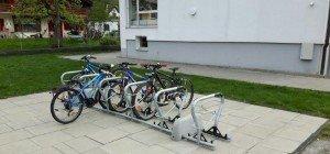 Neue Abstellanlagen für Fahrräder
