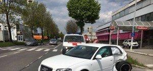 Lauterach: Unfall auf Kreuzung fordert zwei Verletzte