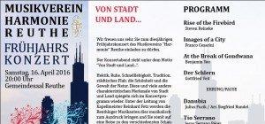 Musikverein Reuthe lädt zum Frühjahrskonzert