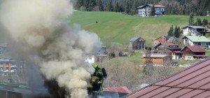 Feuerwehr Riezlern musste das eigene Gerätehaus löschen