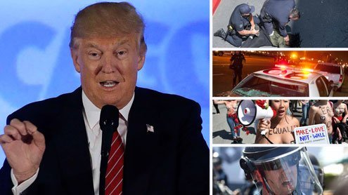 Nackte Haut und Nazi-Vergleiche: Wut-Protest gegen Donald Trump