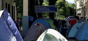 Räumung des Flüchtlingslagers Idomeni fortgesetzt