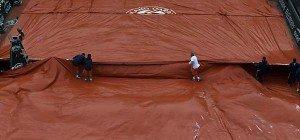 Regen verhinderte kompletten Spieltag bei den French Open