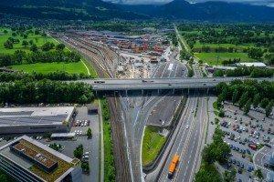 Erster Bauabschnitt am neuen Güterbahnhof Wolfurt fertiggestellt