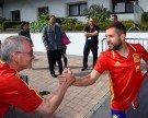 Spanische Nationalmannschaft herzlich verabschiedet