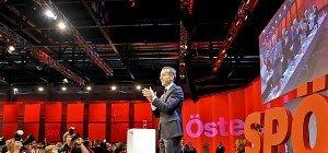 Kern mit 96,84 Prozent zum SPÖ-Vorsitzenden gewählt