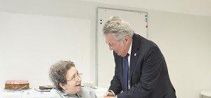 Bundespräsident besuchte Ute Bock zum 74er