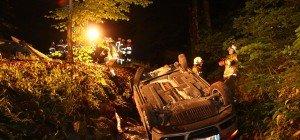 Alkoholisierter Führerscheinneuling stürzt mit Pkw in Bachbett