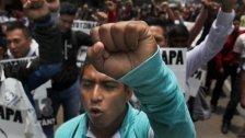Lehrer gegen Polizisten: Heftige Streiks in Mexiko