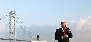 Erdogan weihte viertlängste Hängebrücke der Welt ein