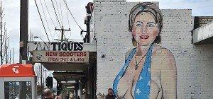 Clinton-Wandbild sorgt für Ärger in Australien