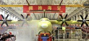 Weltgrößtes Wasserflugzeug in China enthüllt