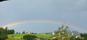 Regenbogen über Batschuns