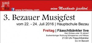Informationen der Bürgermusik Bezau