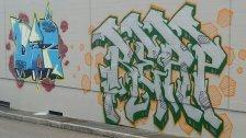Graffities an Dornbirner Supermarkt gesprüht