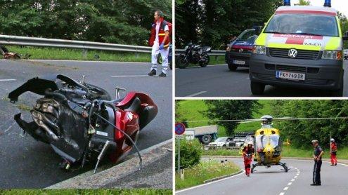 Schwerer Motorradunfall auf der Langener Straße in Bregenz
