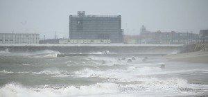 Starker Taifun traf auf Tsunami-Region inJapan