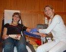 Danke für Ihre freiwillige Blutspende