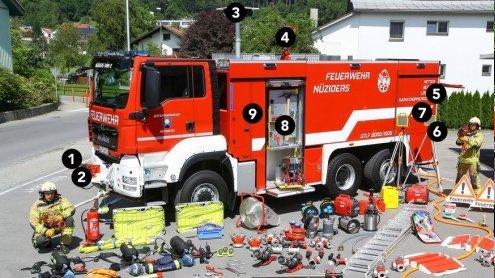 9 Fakten: Großtanklöschfahrzeug der Feuerwehr in Nüziders