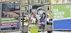 Leopoldstadt: Wahlauftakt der Grünen mit Katze