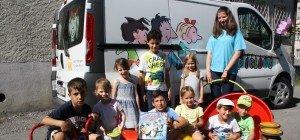 """Auch ein """"Spielbus-Besuch"""" gehört zum Leiblachtaler Ferienprogramm"""