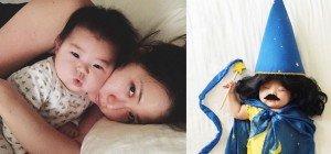 Schlafendes Baby begeistert auf Instagram