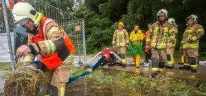 Starkregen sorgt für Feuerwehreinsätze in Vorarlberg
