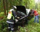 Verkehrsunfall in Schnepfau: Frau prallte gegen Baumstumpf