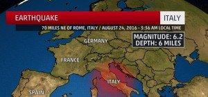 Erdbeben der Stärke 6,0 in Mittelitalien