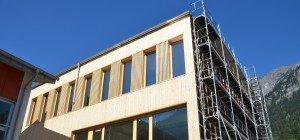 Gemeindezentrum in Innerbraz erhält Fassade