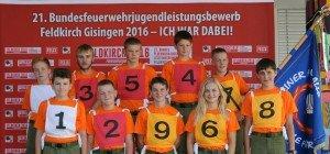 Jugendleistungsbewerb der Bundesfeuerwehr in Feldkirch-Gisingen 2016