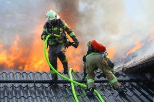 Großbrand in Schlins: Heustock in Flammen