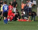 Akademie-Kicker verletzt, Mängel am Tor