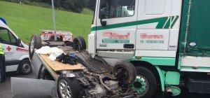 Spektakulärer Verkehrsunfall in Doren