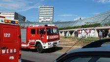Große Feuerwehrübung beim LKH Feldkirch